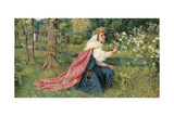 Matilda - Dante, Purgatorio, Canto 28, 1859 Giclee Print by George Dunlop Leslie