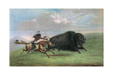 Print after Buffalo Hunt by George Catlin, C.1920 Giclee Print by George Catlin