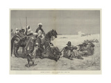 Sketches in Morocco, a Chain of Prisoners from a Rebel Tribe Giclee Print by Gabriel Nicolet