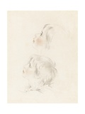 Two Studies for Arthur from Shakespeare's 'King John' (Pencil, Chalk and Stump on Paper) Giclee Print by George Henry Harlow