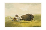 Buffalo Hunt Chase Giclee Print by George Catlin