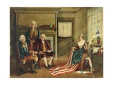 Birth of Our Nation's Flag, 1893 Giclee Print by G. H. Weisgerber