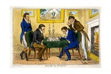 Game of Chess, Pub. Mccleary, Dublin, 1819 Giclee Print by George Cruikshank