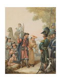 Cossacks and Kalmyks Giclee Print by Georg Emanuel Opitz