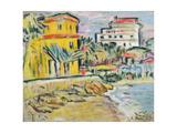 Mediterranean Town Giclee Print by George Leslie Hunter