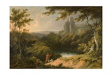 Ruins of Rosslyn Castle, Midlothian, 1810 Giclee Print by George Arnald