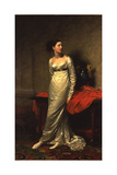 Portrait of Mrs White (Nee Watford), Full Length in a White Silk Dress, 1809 Giclee Print by George Dawe