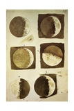 Sidereus Nuncius (Starry Messenger) with Drawings of Phases and Surface of Moon Impression giclée par Galileo Galilei