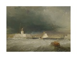 Port on a Stormy Day, 1835 Giclee Print by George the Elder Chambers