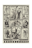 Every One His Own Pantomime Giclee Print by George Cruikshank