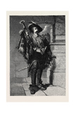 A Trumpeter, from the Exhibition of the Institute of Painters in Water Colours 1867 Giclee Print by George Cattermole
