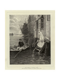 The Ferry, A Dainty Fare Giclee Print by George Henry Boughton