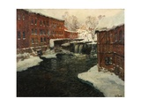 Mill Scene, C.1885-90 Giclee Print by Fritz Thaulow
