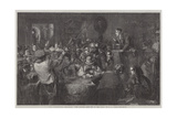 The International Exhibition, The Auction, 'Last Day of the Sale' Giclee Print by George Bernard O'neill