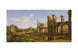 The Colosseum and the Roman Forum, 1711 Giclée-Druck von Gaspar van Wittel
