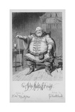 Sir John Falstaff Knight Giclee Print by George Cruikshank