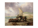 Coast Scene with Fishing Boats Giclee Print by George Balmer