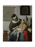 The Sick Child, C.1664-6 Giclee Print by Gabriel Metsu