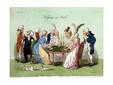 A Group at Bath, 1796 Giclee Print by George Cruikshank