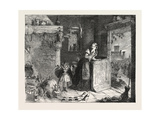 Cinderella, from the Exhibition of the Royal Academy 1854 Giclee Print by George Cruikshank