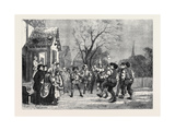 Worcestershire Mummers Giclee Print by George Cattermole
