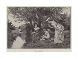 Cupid Fishing Giclee Print by George Adolphus Storey