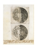 Sidereus Nuncius (Starry Messenger) with Drawings of the Phases and Surface of the Moon Giclee Print by Galileo Galilei