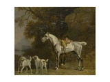Huntsman with a Grey Hunter and Two Foxhounds: Details from the Goodwood 'Hunting' Picture Giclee Print by George Stubbs