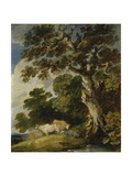 A Wooded Landscape with Cattle and Herdsmen Giclee Print by Gainsborough Dupont