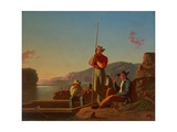 The Wood-Boat, 1850 Giclee Print by George Caleb Bingham