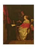 The Virginal Lesson Giclee Print by Gabriel Metsu