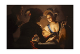 The Procuress, 1625 Giclee Print by Gerrit van Honthorst