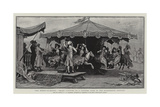 The Merry-Go-Round, Smart Visitors to a Country Fair in the Eighteenth Century Giclee Print by Frederik Hendrik Kaemmerer
