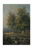Horses and Cattle by a River, 1777 Giclee Print by George the Elder Barret