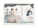 Visez Au Coeur, Belles Dames!, by H. Reidel, 1924 (Pochoir Print) Giclee Print by Georges Barbier