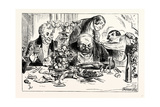 Charles Dickens Sketches by Boz Tureens of Soup are Emptied with Awful Rapidity Giclee Print by George Cruikshank