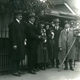 Mr and Mrs Martin Johnson's Party at London Zoo, October 1920 Photographic Print by Frederick William Bond