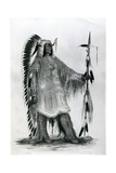 Mato-Tope, Second Chief of the Mandan People, C.1833 Giclee Print by George Catlin