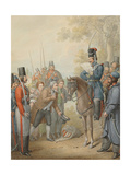 Russian Cossacks and a Supplicant Giclee Print by Georg Emanuel Opitz