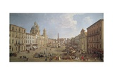 View of Piazza Navona Giclee Print by Gaspar van Wittel