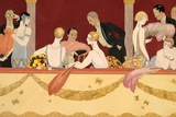 Eventails, 1924 Giclee Print by Georges Barbier