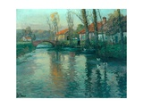 The River Giclee Print by Fritz Thaulow