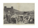 The Sultan of Morocco's Return to Mequinez from His Pilgrimage to Muley Edris Giclee Print by Gabriel Nicolet