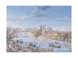 View of Rome with St. Peter's and Castel Sant' Angelo in the Distance, 1685 Giclee Print by Gaspar van Wittel