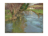 A Stream in Spring Giclee Print by Fritz Thaulow