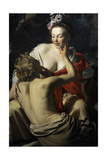 Granida and Daifilo, 1625, by Gerard Van Honthorst (1592-1656). Netherlands Giclee Print by Gerrit van Honthorst