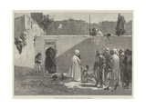 Capture of the Kasbah of Arbaa by Berber Troops in Morocco Giclee Print by Gabriel Nicolet