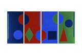 Four Colour Symphony, 1983 Giclee Print by George Dannatt