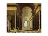 Architectural Fantasy with Figures, 1638 Giclee Print by Gerrit Houckgeest