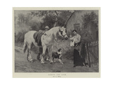 Labour and Love Giclee Print by George Augustus Holmes